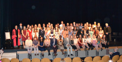 Ursinus students are inducted into Phi Beta Kappa in 2018.