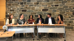 Ursinus alumni, staff and friends, all of them graduates from liberal arts institutions, discussed their navigation and tr...