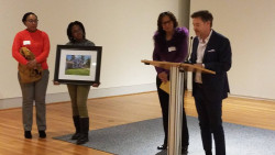 The event also honored Paulette Patton for her contributions. She was presented with a photo of Unity House.