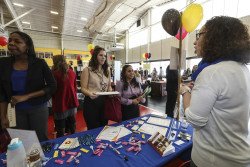 Ursinus students meet with employers at the 2014 Job, Internship and Networking Fair.