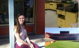 Stephanie Cooper '16, at University of Florida in U-Imagine-supported externship.