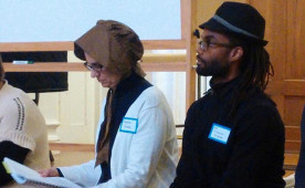 Ursinus professors play historical roles during a two-day Reacting to the Past workshop in February 2016.