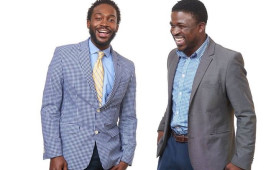 Mubarak Lawrence '10 (left) and Alex Peay '09 founded Ones Up, an organization that grew out of the Rising Sons initiative...