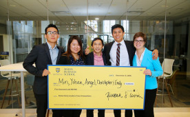 Chris Tan (center) and his Case Competition winning team