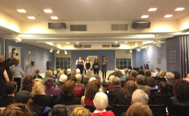 Ursinus students at the Center for Jewish History at Women and Resistance: Women, Theatre and the Holocaust April 26.