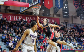 The men's and women's basketball teams will play at the Palestra on Jan. 14.