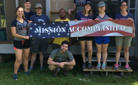 Melrose Fellows helped to rebuild a home damaged by Hurricane Harvey.