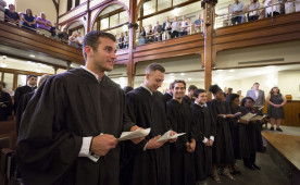 Ursinus graduates participated in a baccalaureate ceremony on the evening before commencement.