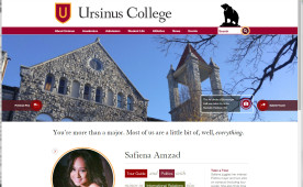 Ursinus College's new website
