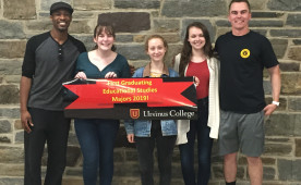 Members of the first graduating class of the educational studies major at Ursinus.