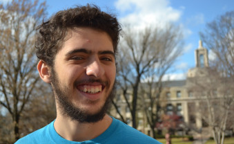 Axel Gonzalez '16 is excited about a scholarship to learn more about labor activism.