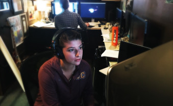 Sydney Gonzalez '19 is working as an intern for Ancient Order of the Wooden Skull, a production company in Californi...