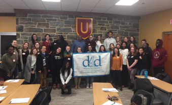Ursinus students participated in a Debating for Democracy workshop in the Bears' Den.