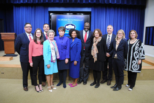 Aakash Shah (third from left) at the White House with Senior Advisor to the President Valerie Jarrett and the other Champions of Change.