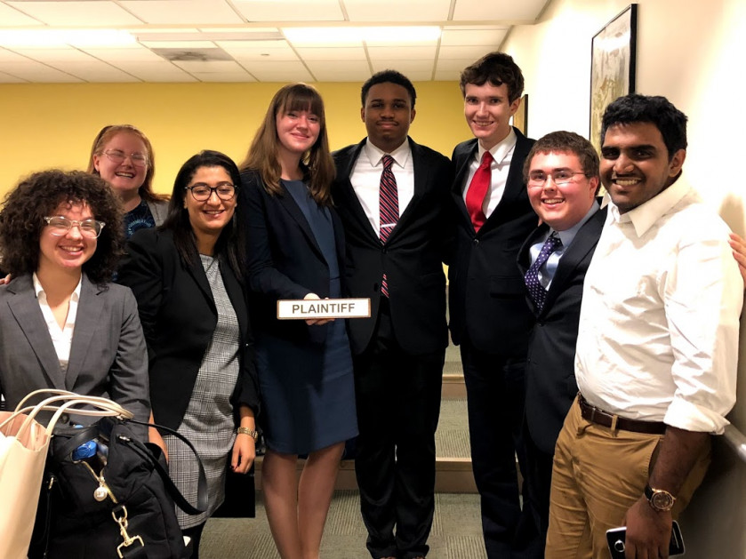 The Ursinus College Mock Trial team earned high marks at the American Mock Trial Association Regi...