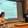 Pictured: Day 2 of the first ever Ursinus College Summer Business Assist Program. The students sp...