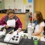 Students in Thomas Hall science lab