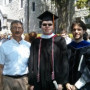 Prof. Andrew Economopoulos, Scott Clayman '15, and Prof. Scott Deacle after the May 2015 commen...