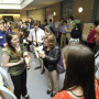 Students describe their scholarly work during CoSA 2014.