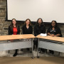 Emily Herman '10, Rachel Brown '15, Matt Whitman '10 and Latifah Waddy '12 spoke to Ursinus stude...