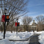 Snow covers the Ursinus campus