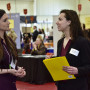 Students met with employers during the 2019 Job, Internship and Networking Fair.