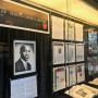 A display honoring Robert Crigler in the lobby of the Myrin Library. Dr. Patricia Lott is researc...