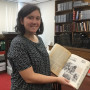 Shelby Bryant '18 looks through the Ursinus College archives for Bears Make History. She is ...