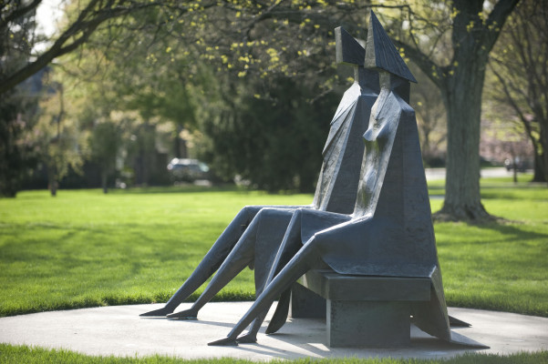 Seated Couple Sculpture