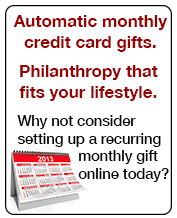 Advertisement for setting up recurring gifts