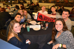 Students attending Quizzo Nights