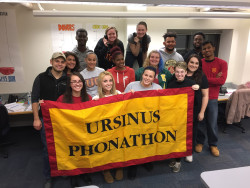 Members from the Fall 2016 Phonathon team