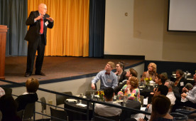 Clifford C. Kuhn '63 M.D. presented on the healing power of laughter on March 19, 2015.