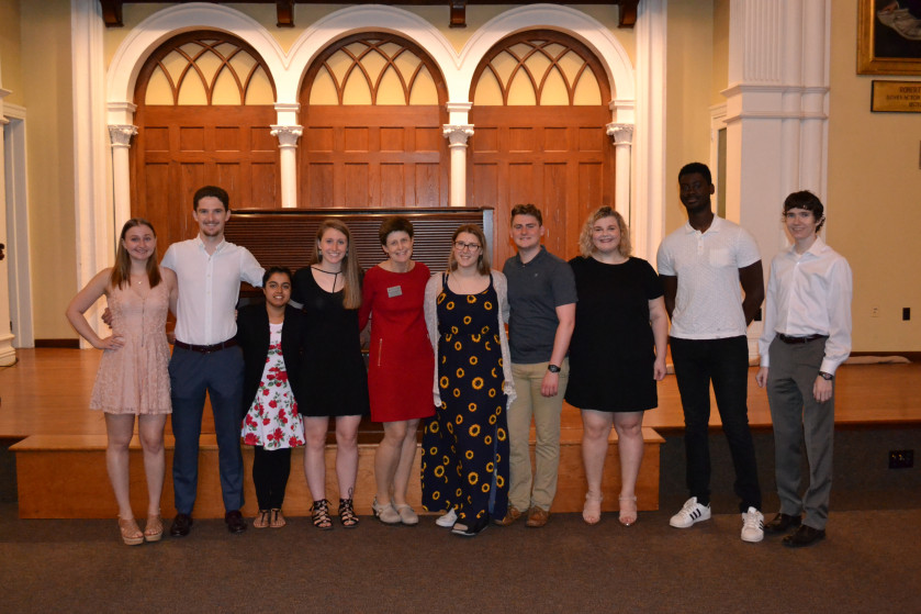 Senior Class Gift Committee 2019 with Rosemary Pall, Executive Director of Annual Fund Porgrams