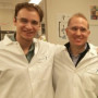 John Sears '99, Ph.D., MBA and Ivan Sokirniy '15 at Janssen Pharmaceuticals, Inc.
