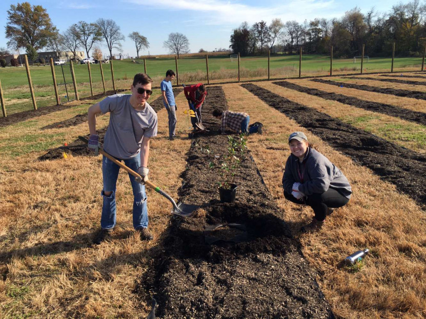 Students Plant the Food Forest, Fall 2019