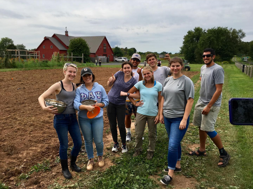 Group of students at Willow Creek Farm