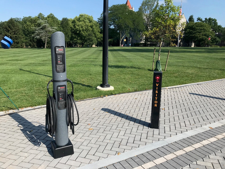 This is the first electric car charging station on campus! While we are talking about electric, a...