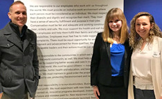 Jenna Severa '21 and Julianna Berardi '21 shadowed John Sears '99 at Johnson & Johnson during the Winter 201...