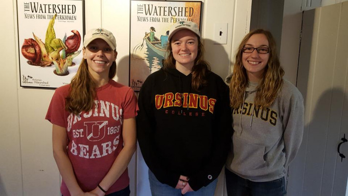 Allie Cook '18 shadowed Jessie Kemper '12 and Beth Myers '17 at the Perkiomen Watershed Conservancy