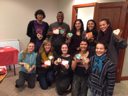 Ursinus Scholars in Service volunteering with Hearts of Hope