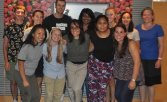 Emily Reeve (front row, second from left) along with her fellow summer research interns at the Food Trust