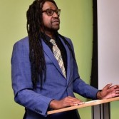 Photo of Terrence Williams giving a presentation