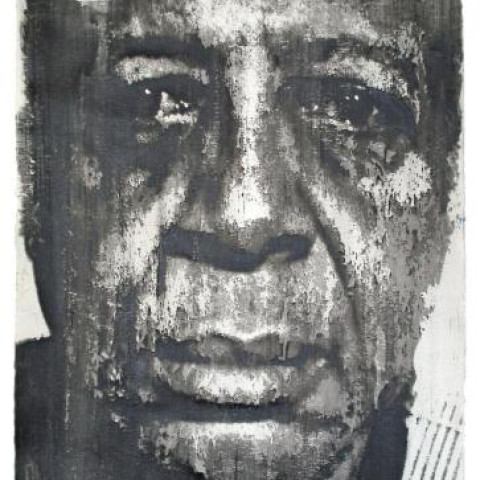 Donald E. Camp, Self, 2006. Earth pigment and casein monoprint on paper. Collection of the Berman Museum of Art. Donald E. Camp Collection, Gift of the artist. BAM2018.005