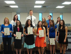 2017 Nu Rho Psi National Honors Society Inductees.