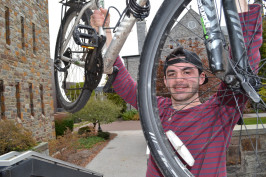 Connor Murphy hopes more students will start using Ursinus BikeShare.