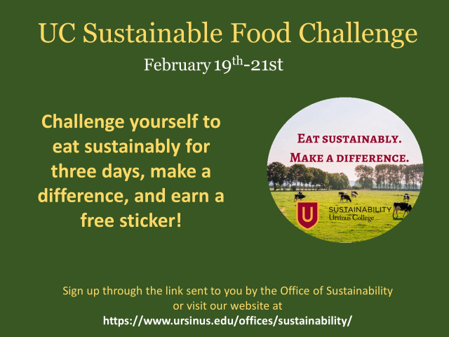 Challenge yourself to eat sustainably for three days, make a difference on campus, and receive a sticker!