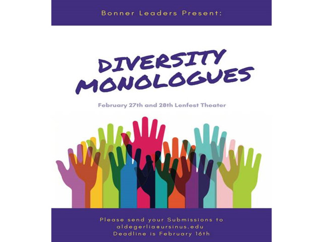The Diversity Monologues are a compilation of uncensored, open, and free monologues that are meant to share with the Ursinus Community how it feels for individuals to be themselves on campus and in the greater community. Past monologues have covered topics such as gender, race, economic status/class, ability/disability, religion, sexual orientation, ethnicity/culture, health, and more!