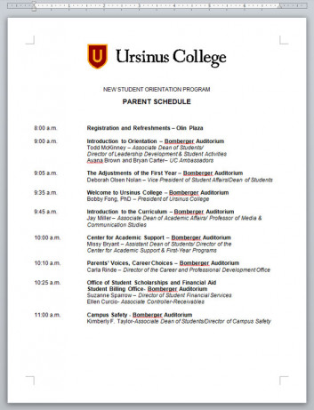 microsoft word templates college communications ursinus college