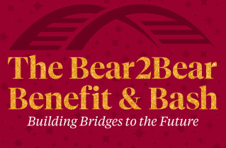 Logo for the 3rd Annual Bear2Bear Benefit and Bash held virtually on April 15, 2021.